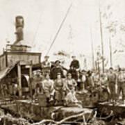 Logging, Clemons Camp No. 3 No. 1, Circa 1920 Art Print