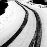 Logging Road In Winter Art Print by Mark Duffy