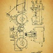Logging Truck Patent Art Print