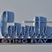 Logo Of 1966 Chevrolet Corvette Sting Ray 427 Turbo-jet Art Print
