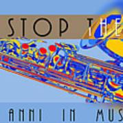 Logo Sax Hd Art Print