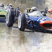 Lola Lotus Cooper Ferrari Datch Gp 1962 Art Print