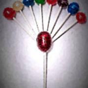 Lollipop Balloons  Art Print