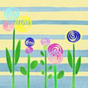 Lollipop Flower Bed Art Print