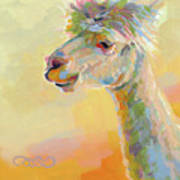 Lolly Llama Art Print