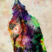 London Big Ben Urban Art Art Print