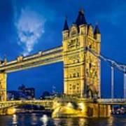 London Bridge Panorama Art Print