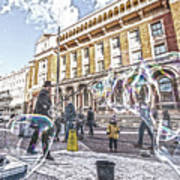 London Bubbles B Art Print