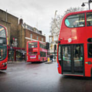 London Buses Art Print