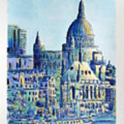 London City St Paul's Cathedral Art Print