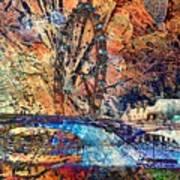 London Eye Abstract Art Print