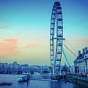 London Eye At Dusk Art Print
