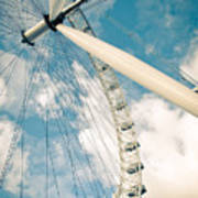 London Eye Ferris Wheel Print by Andy Smy