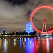 London Eye Art Print