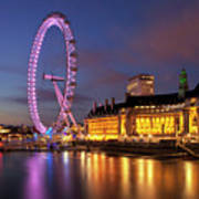 London Eye Art Print by Stuart Stevenson photography