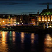 London Night Magic - Colorful Reflections On The Thames River Art Print