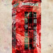 London Phone Box Urban Art Art Print