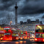London Red Buses Art Print
