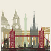 London Skyline Poster Art Print
