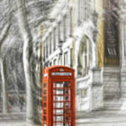London Telephone C Art Print