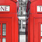 London Telephones Print by Richard Newstead