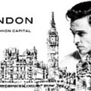 London The Fashion Capital Art Print