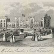 London Windsor Castle East Terrace, The Queen's Private Apartments Art Print