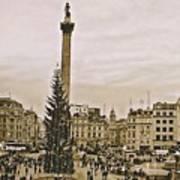 London's Trafalgar Square Art Print