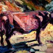 Lone Cow Art Print