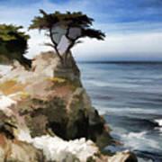 Lone Cypress Tree Pebble Beach  Art Print