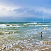 Lone Fishing Pole Art Print
