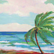 Lone Palm On The Beach Art Print