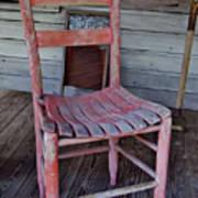 Lone Red Chair Art Print