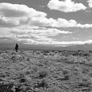 Lone Rider West Of Taos Art Print