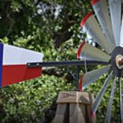 Lone Star Windmill Art Print