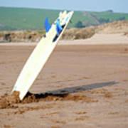Lone Surfboard Art Print