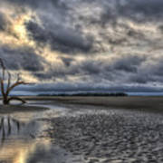 Lone Tree Under Moody Skies Art Print