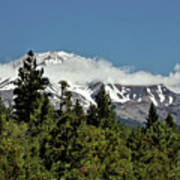 Lonely As God And White As A Winter Moon - Mount Shasta California Art Print by Christine Till