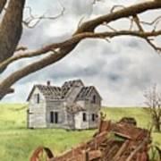 Lonely Farm Art Print