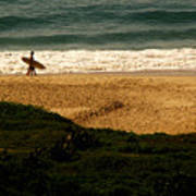 Lonely Surfer Art Print