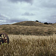 Lonely Tractor Panorama Art Print