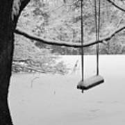 Lonely Winter Swing Ipswich Ma Art Print