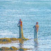 Lonesome Angler Art Print