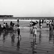 Long Beach California Bathers C. 1910 Art Print
