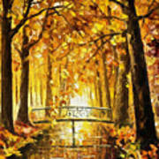 Long Before Winter - Palette Knife Oil Painting On Canvas By Leonid Afremov Art Print