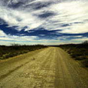 Long Dusty Road In Jal New Mexico  Art Print