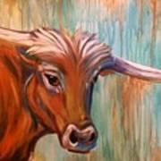 Long Horn Art Print