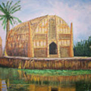 Long Hut Of The Marsh Arabs Art Print by Ron Bowles