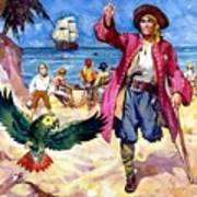 Long John Silver And His Parrot Art Print