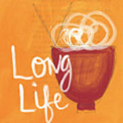 Long Life Noodle Bowl Art Print by Linda Woods
